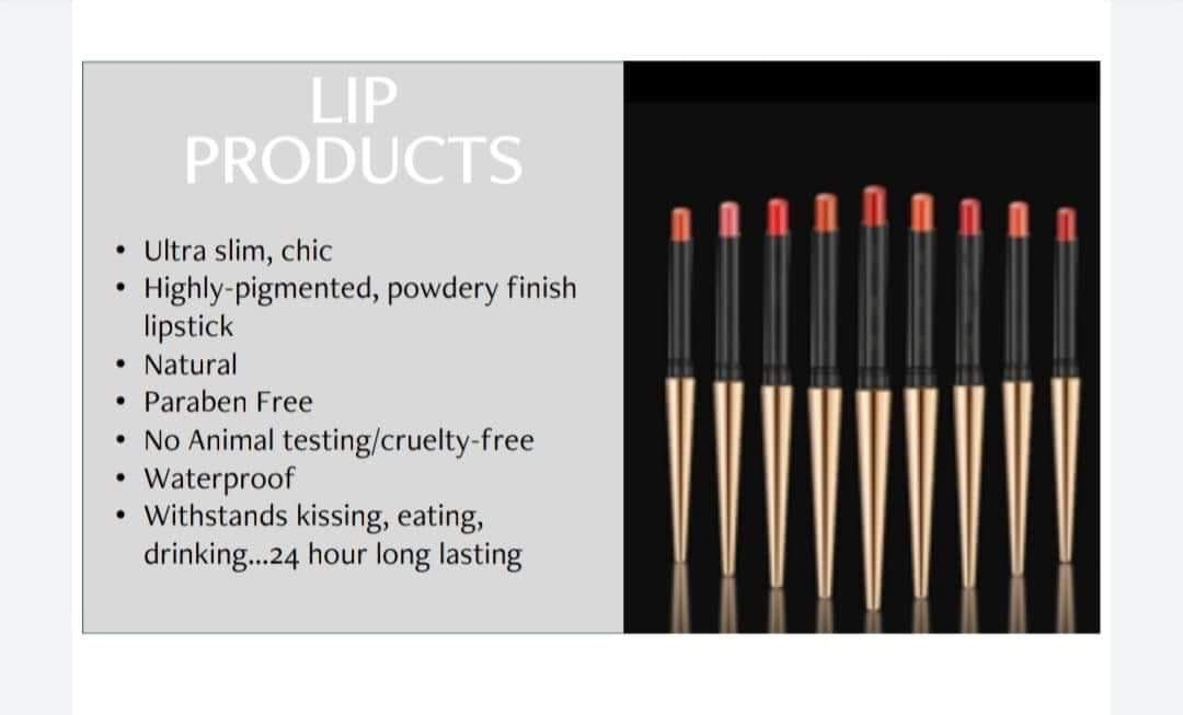 We Are in 2020 Paraben free products, Natural lipstick