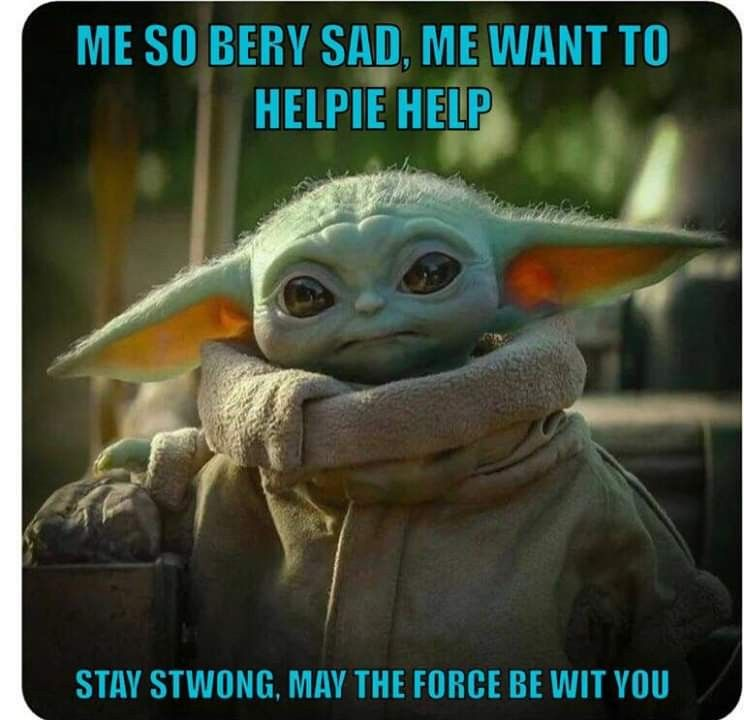 Pin By Cheryl Shock On Baby Yoda Star Wars Memes Star Wars Yoda Star Wars Baby