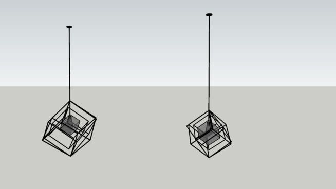 Large Preview Of 3D Model Of Cubist Chandelier By Kelly Wearstler