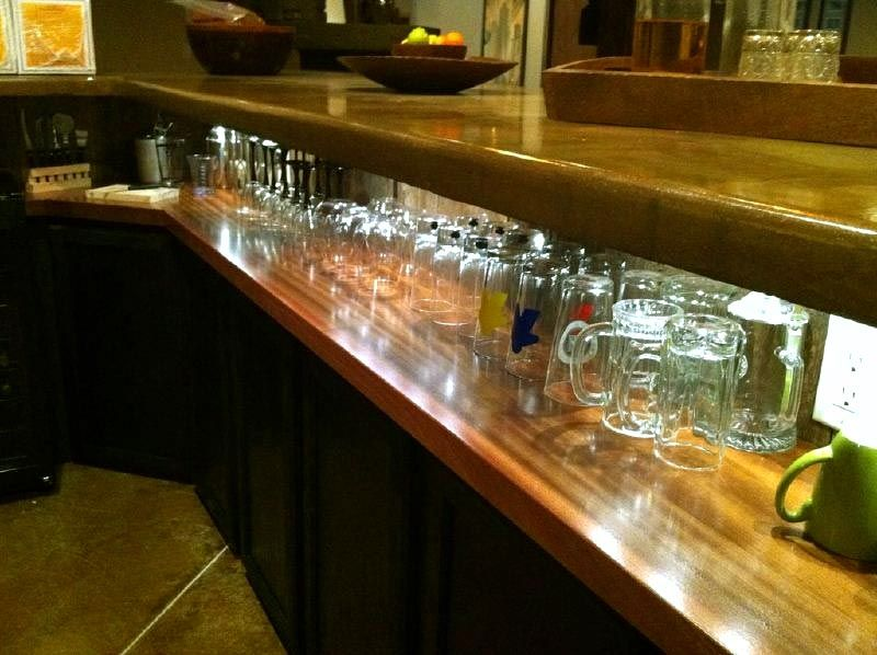 Amazing Commercial Or Residential Wood Bar Top Photos For Wet Bar