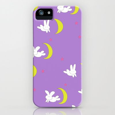 Usagi (Sailor Moon) Bedspread Bunny and Moon  iPhone Case by Apricot - $35.00