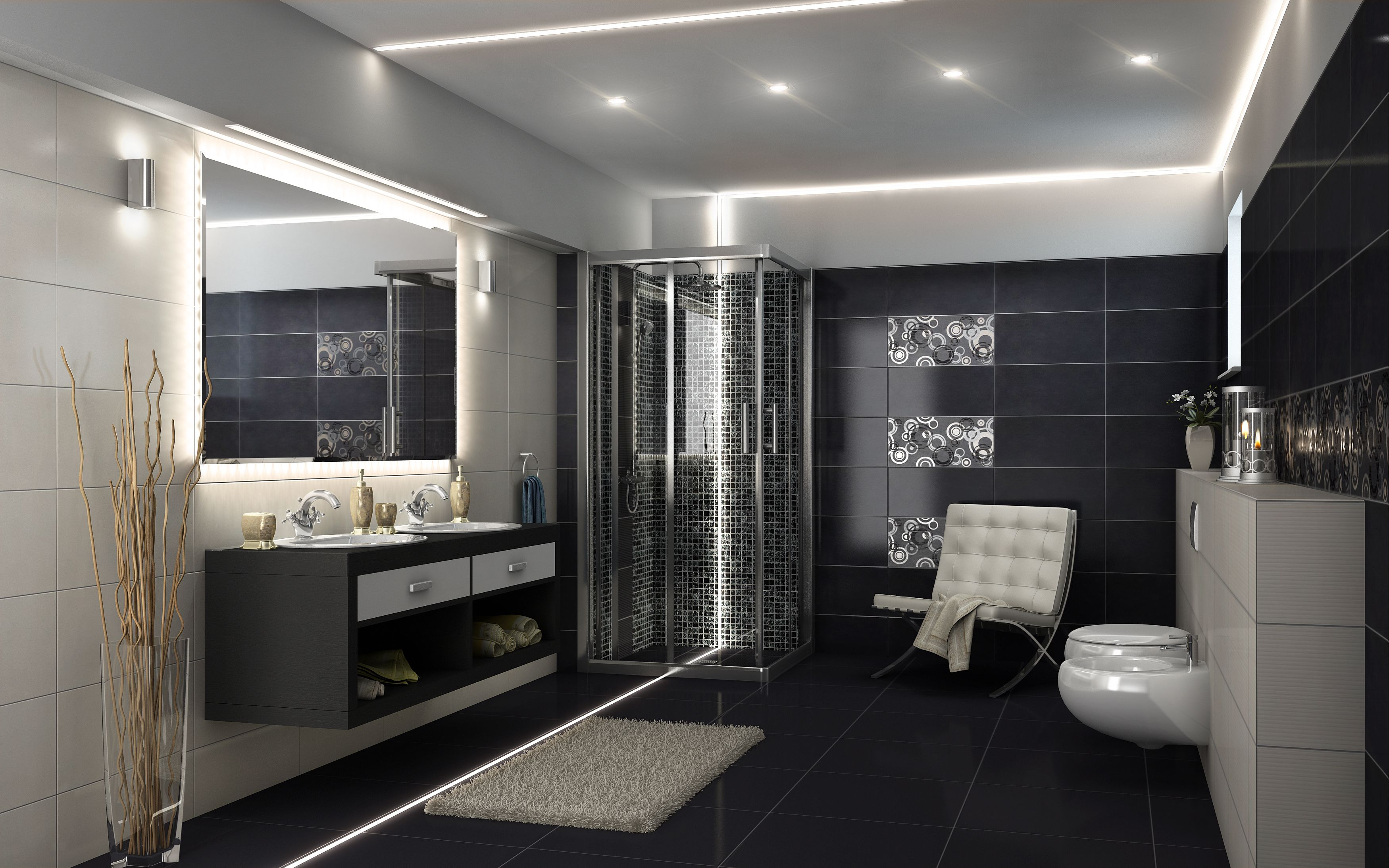 Led Lighting For Bathroom Ceiling And Floor Lights Lumines