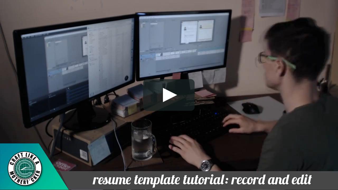 Making The Resume Template Tutorial Series