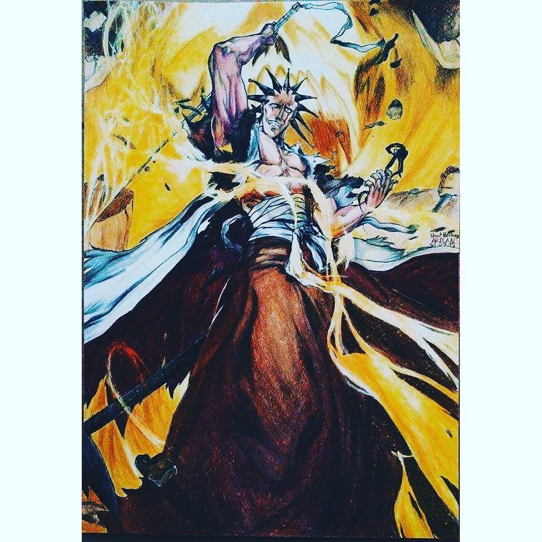 Woooowww This excellent art @umuts_artworks #bleach #zaraki #kenpachi #animedrawing #animecosplay #animejapan #japanese #tokyo #turkey #animeturkey #turkeydraw #turkdrawing #drawing #draw #picture #pencil #pen #colored #coloredpencils #blood #anizmtv