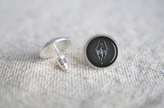 Skyrim tiny stud silver earrings MST58 Gamers post by LavishMotif