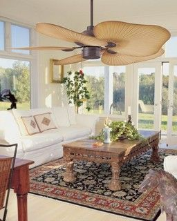 Tahitian Ceiling Fan I Think I Would Want This In Lavender Or White So It Looks Like A Flower Living Room Ceiling Fan Tropical Living Room Ceiling Fan Bedroom
