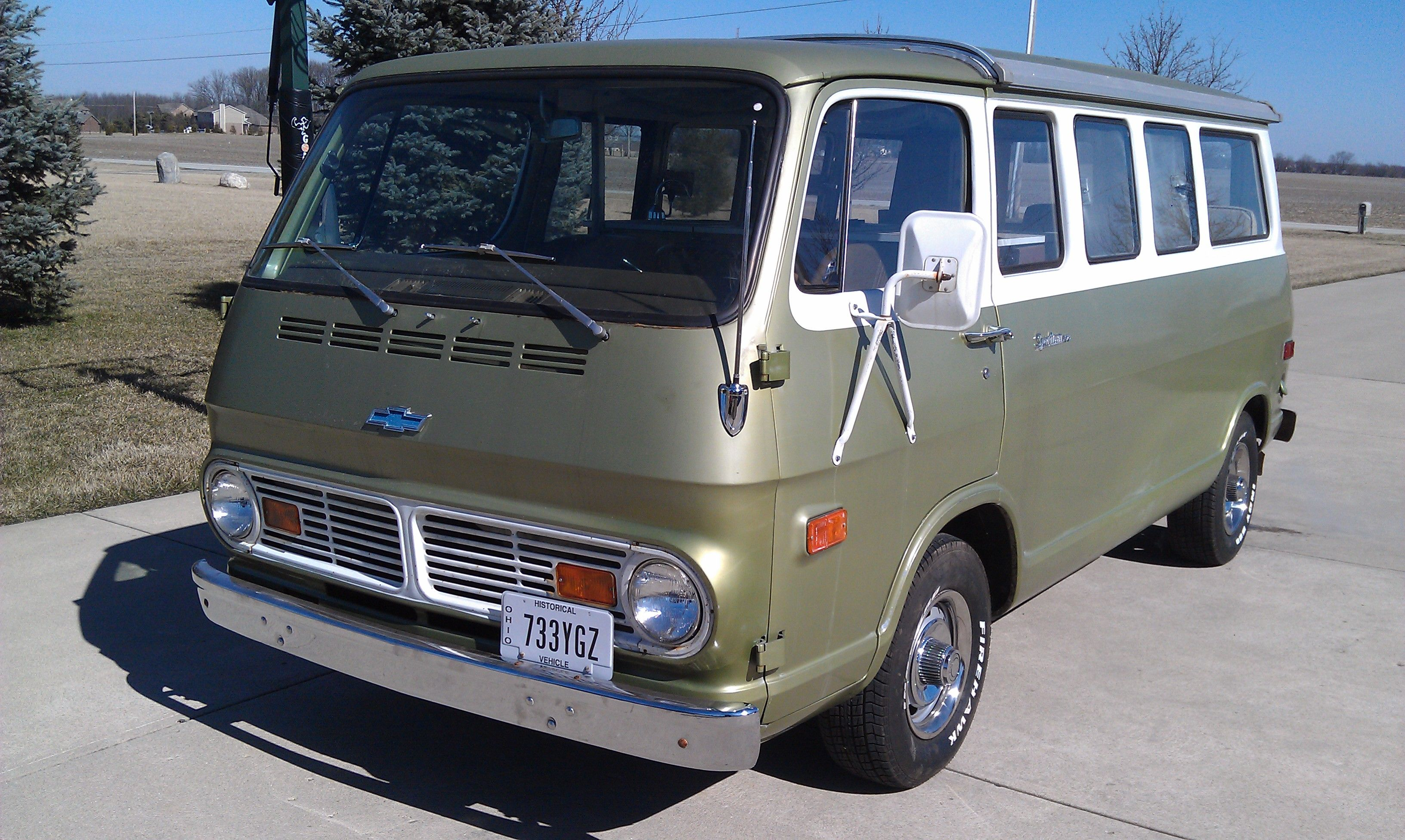 This one of a kind 69 chevrolet sportvan 108 with the travel cruiser camper conversion is a rare find in very good condition that was purchased from the