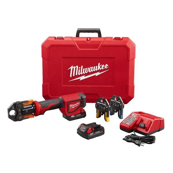 Milwaukee 2674 22p M18 Short Throw Press Tool Kit W Viega Pureflow Jaws Plumbing Tools Tool Kit