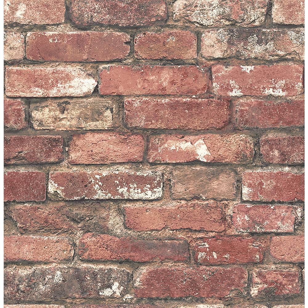 Brewster Loft Red Brick Red Wallpaper Sample Fd23287sam The Home Depot Red Brick Wallpaper Brick Texture Brick Wallpaper