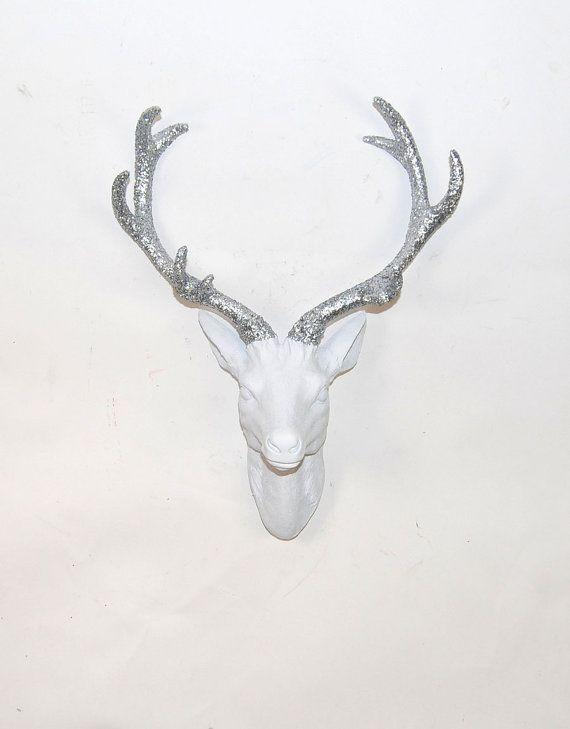 White Faux Taxidermy Faux Deer Head Faux By