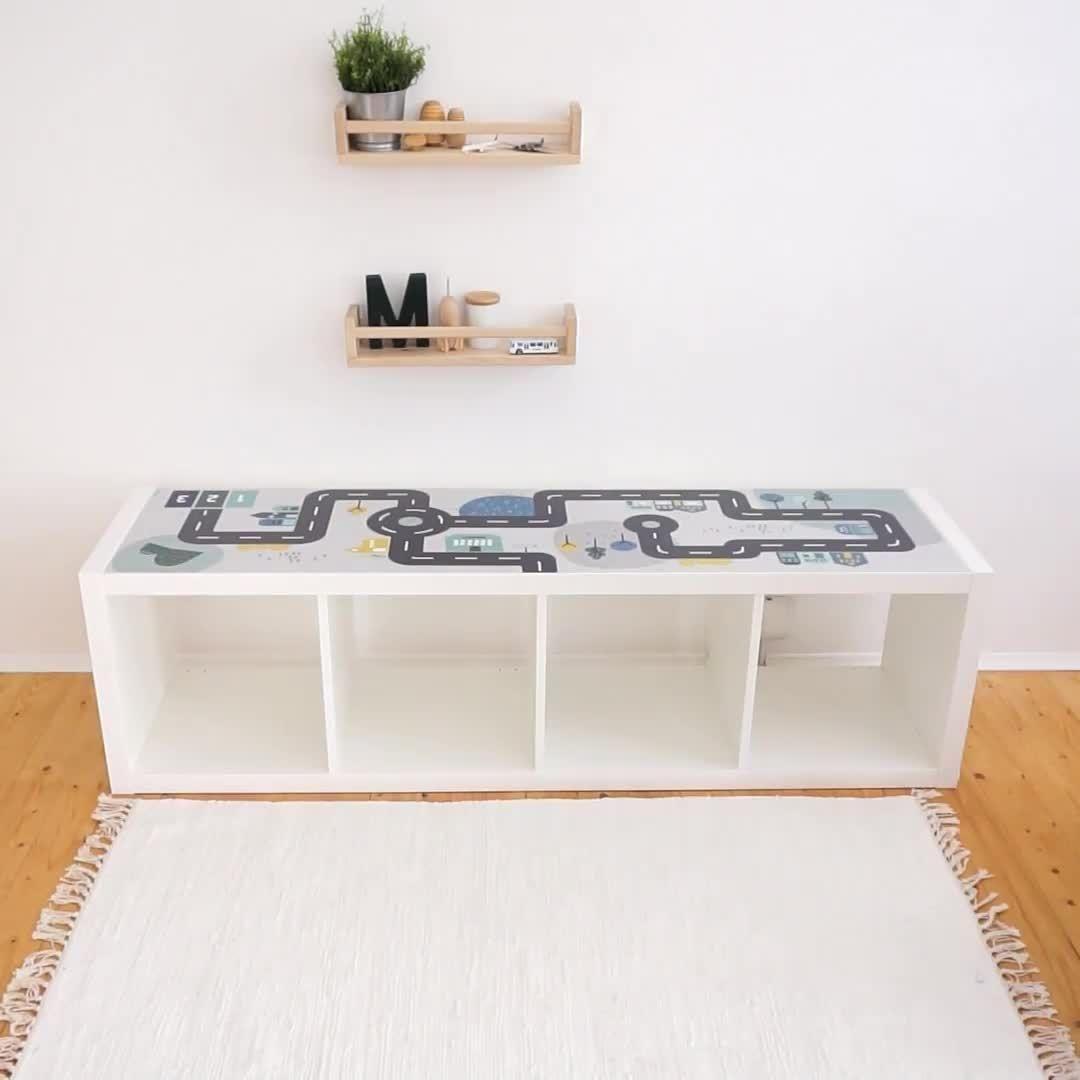 Spieltisch IKEA - Spieltisch Playmobil mit IKEA Regal und Folien von LImmaland