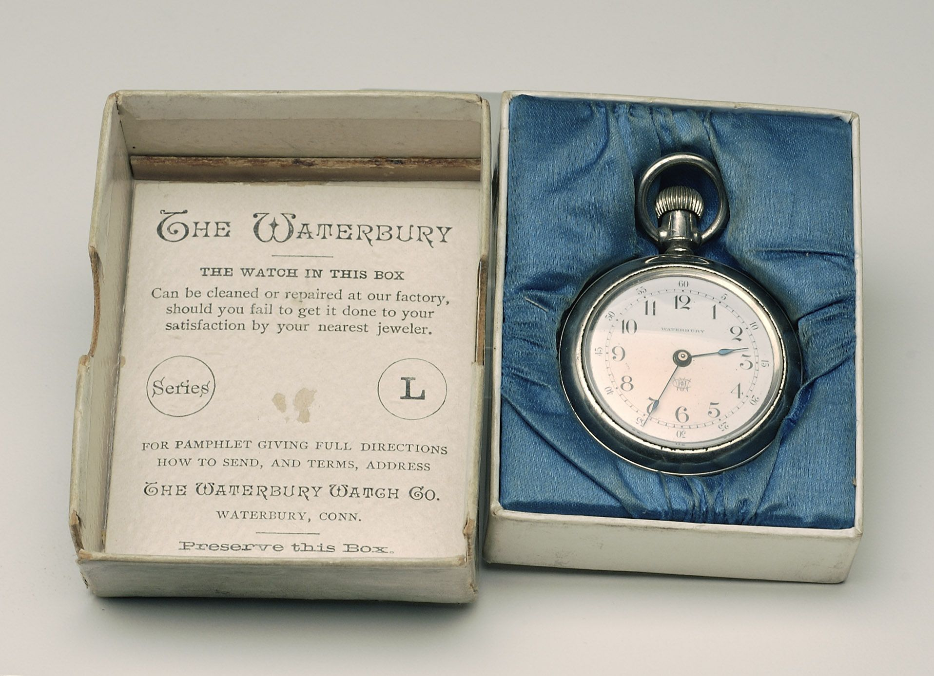 Chase brass and copper company addition turner construction company - The Waterbury Watch Company The Waterbury L Series With Sales Box 1888 History Exhibit