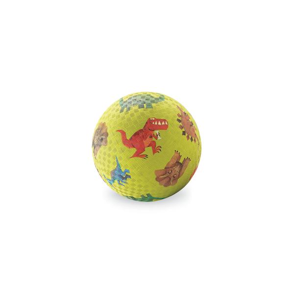 Balón con imágenes de dinosaurios  Material: caucho natural y sintético  Medida: 18 cm de diámetro  Para todas las edades  Se envía inflado