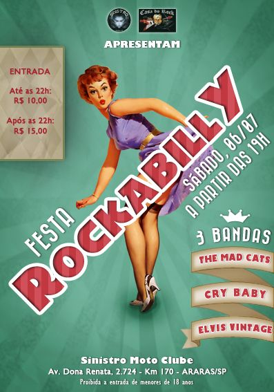 Rockabilly Party Flyer  Retro Inspired Flyer    Party
