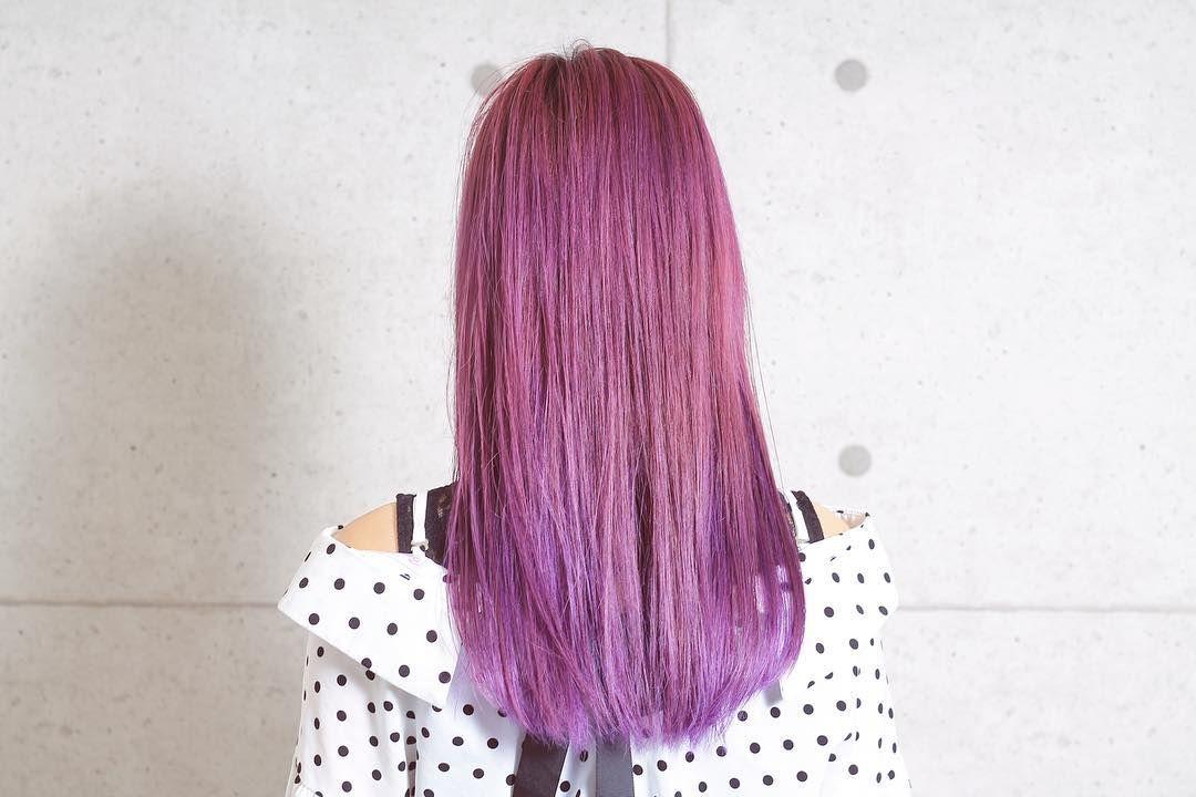 Pink Purple Amihairgarden Amiokayama ハイトーンカラー ピンク