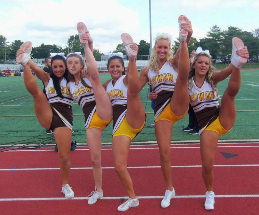 Football cheerleaders upskirts college
