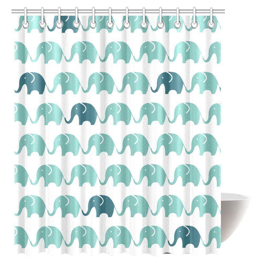 Amazon.com: InterestPrint Pattern of Blue and Grey Elephant Decor ...