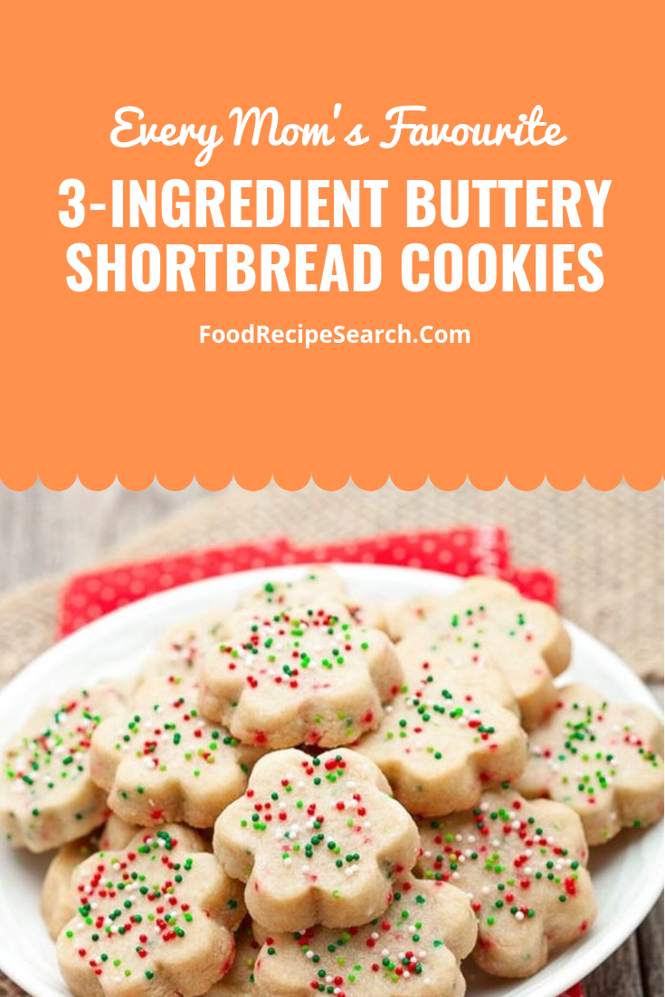 3 Ingredient Buttery Shortbread Cookies The Three Materials On