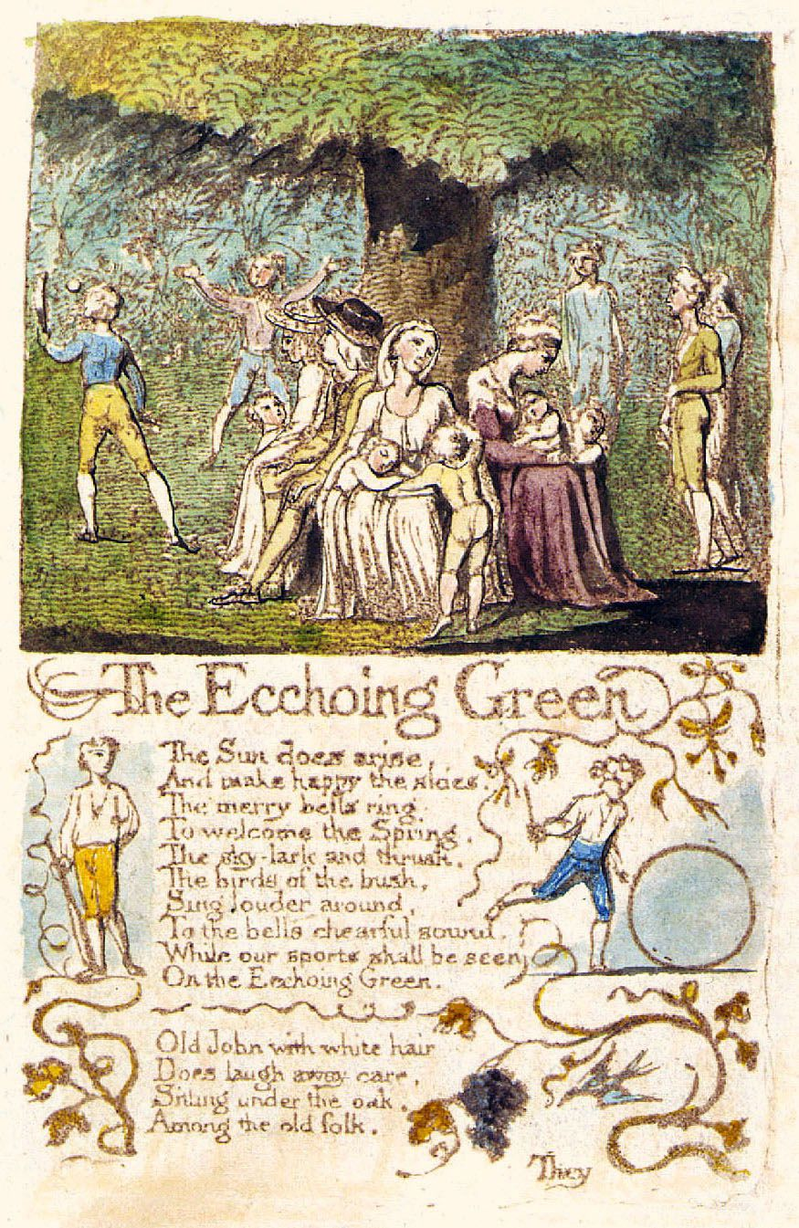 The Echoing Green William Blake Paintings William Blake Art