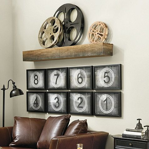 Movie Theater Wall Decor could make similar for game room with billard balls on canvas