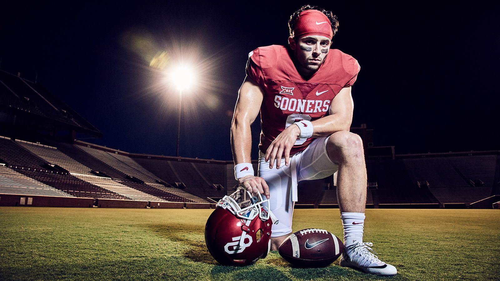 """University of Oklahoma quarterback Baker Mayfield for"