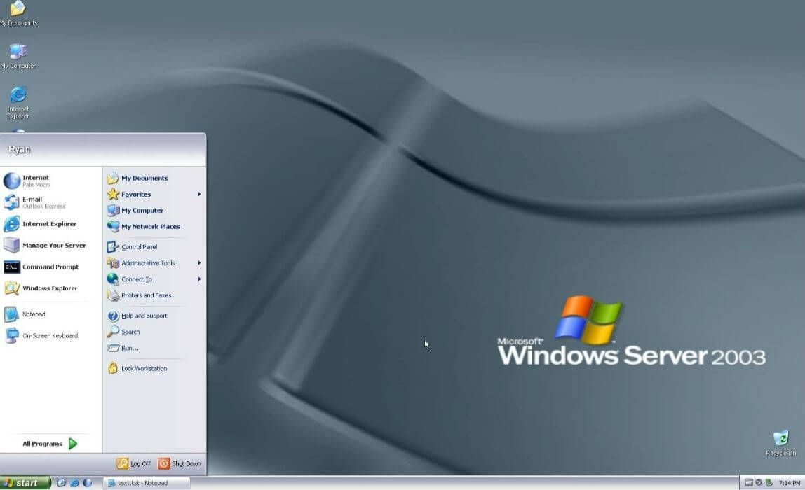 Windows Server 2003 R2 Home Screen Windows Server 2003 R2 Iso