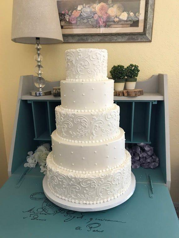 Five tier faux wedding cake