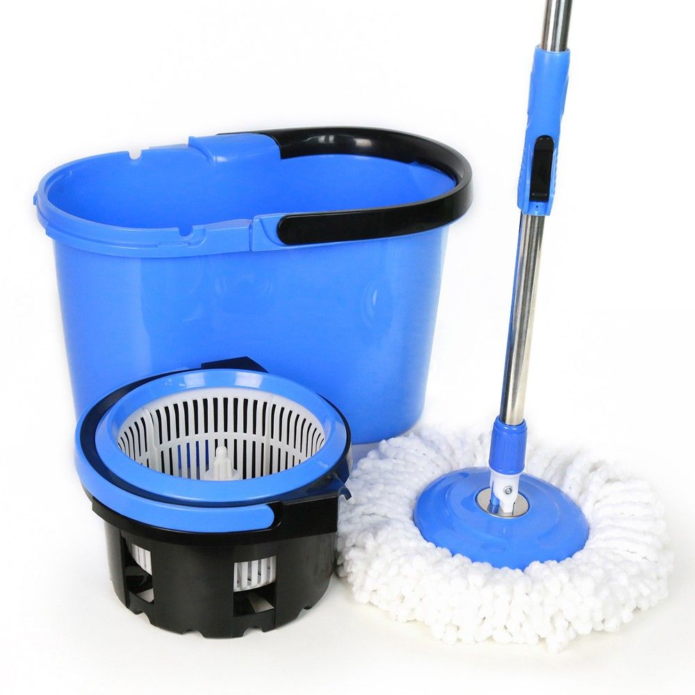 Bucket Mop Plastic Wringer Home Cleaning Tools Durable Wide Heavy Duty Steel NEW