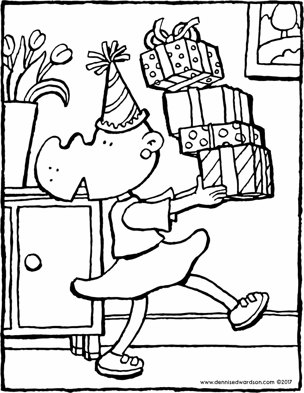 A Pile Of Presents It S Someone S Birthday Today Hip Hip Hurrah There Are Presents For The Birthday Coloring Pages Beautiful Birthday Cards Coloring Pages