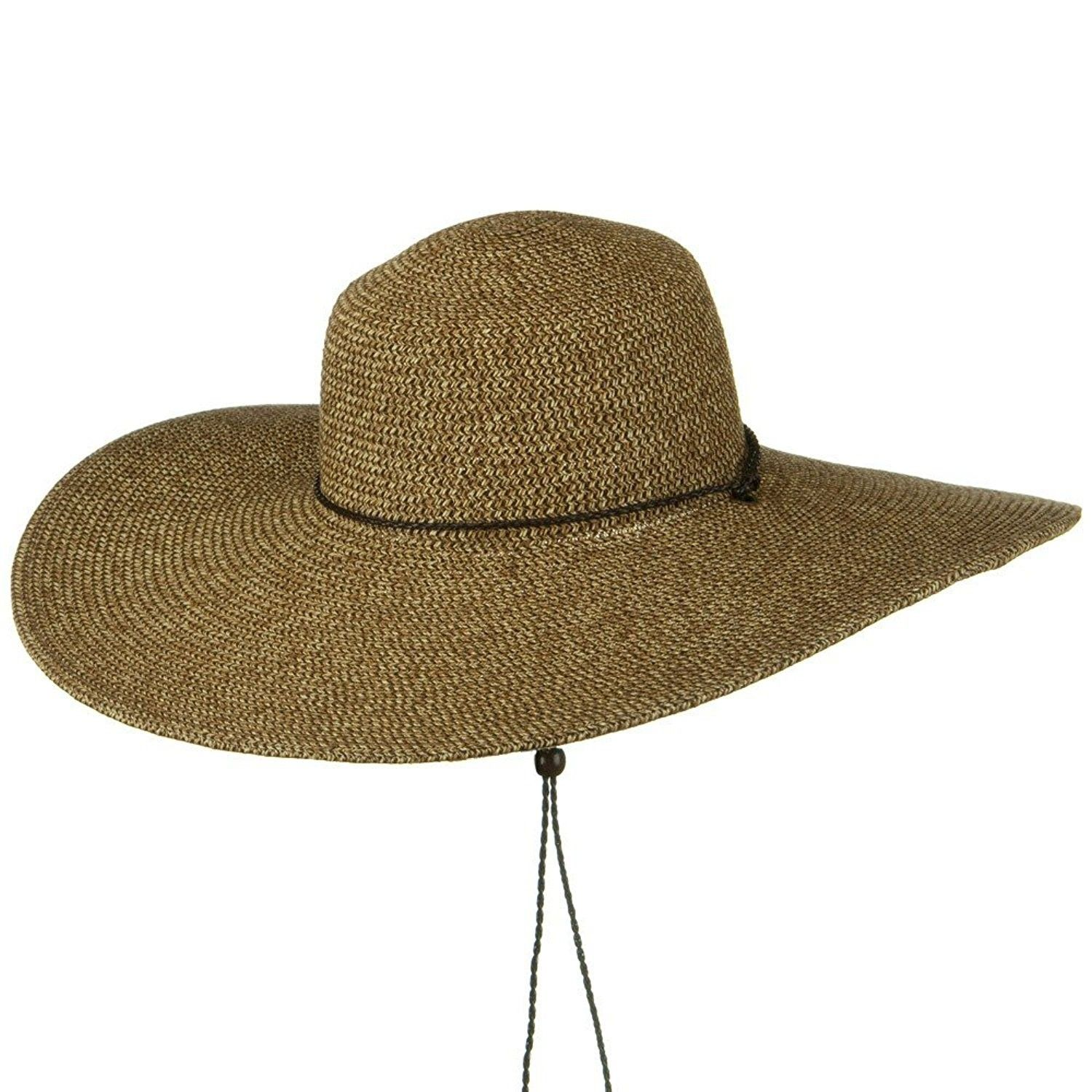5 1 2 Inches Wide Brim Tweed Straw Hat - Natural Brown Tweed ... e6de24aa13d2