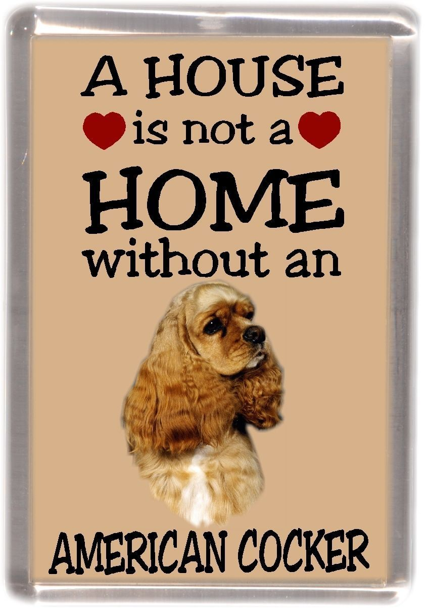 American Cocker Spaniel Fridge Magnet A House Is Not A Home By