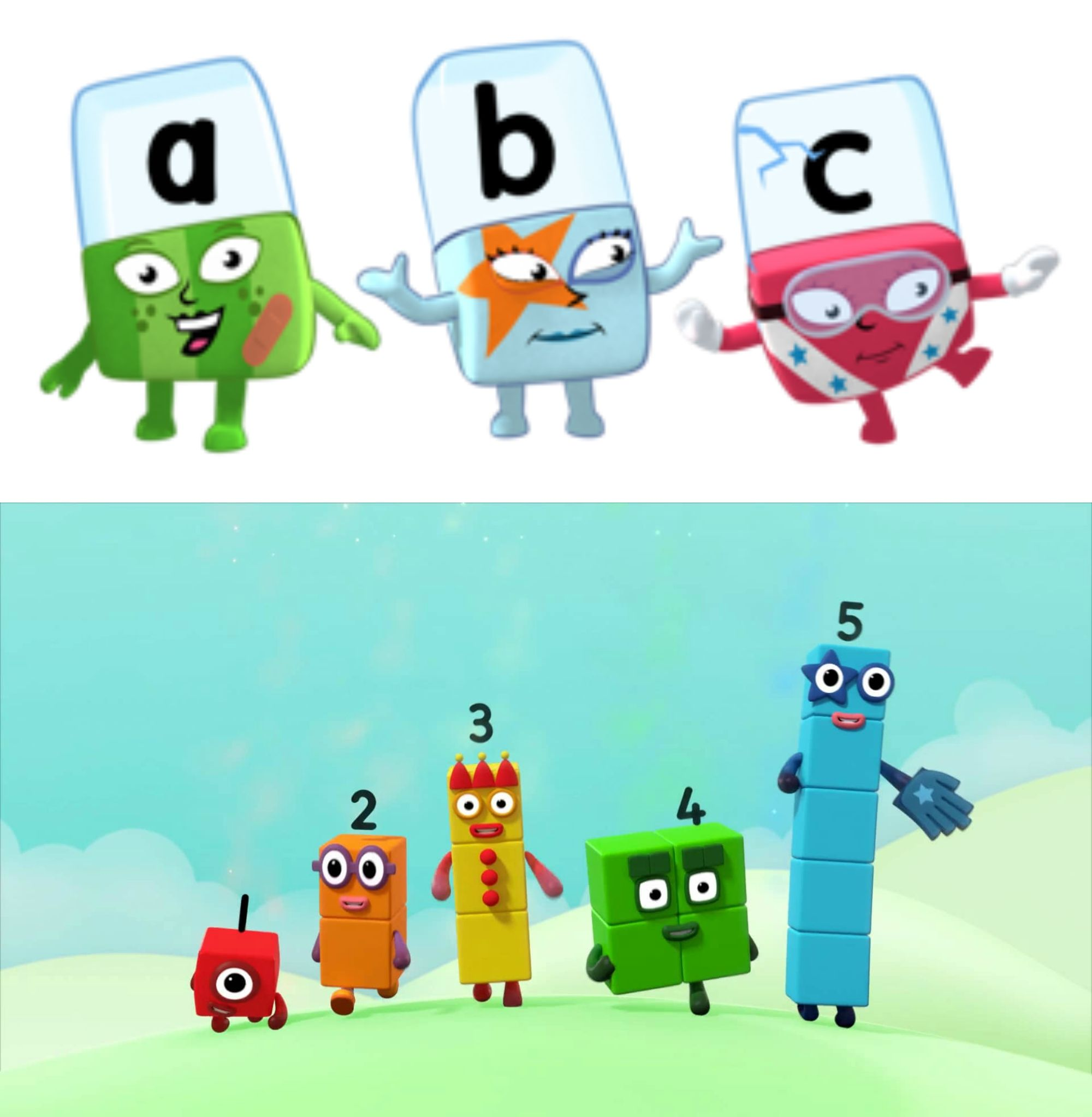 Alphablocks & Numberblocks - Learning letters and numbers together ...