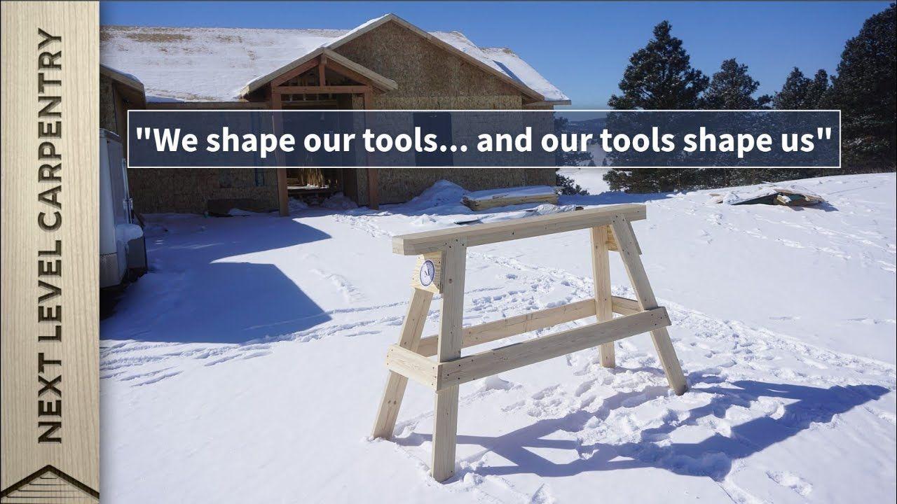Build these professional carpenters sawhorses sawhorse