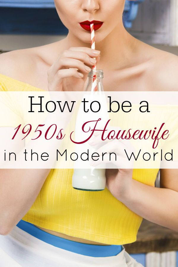 Want to be a 1950's housewife? Try these tips. #1950s #retrohousewife