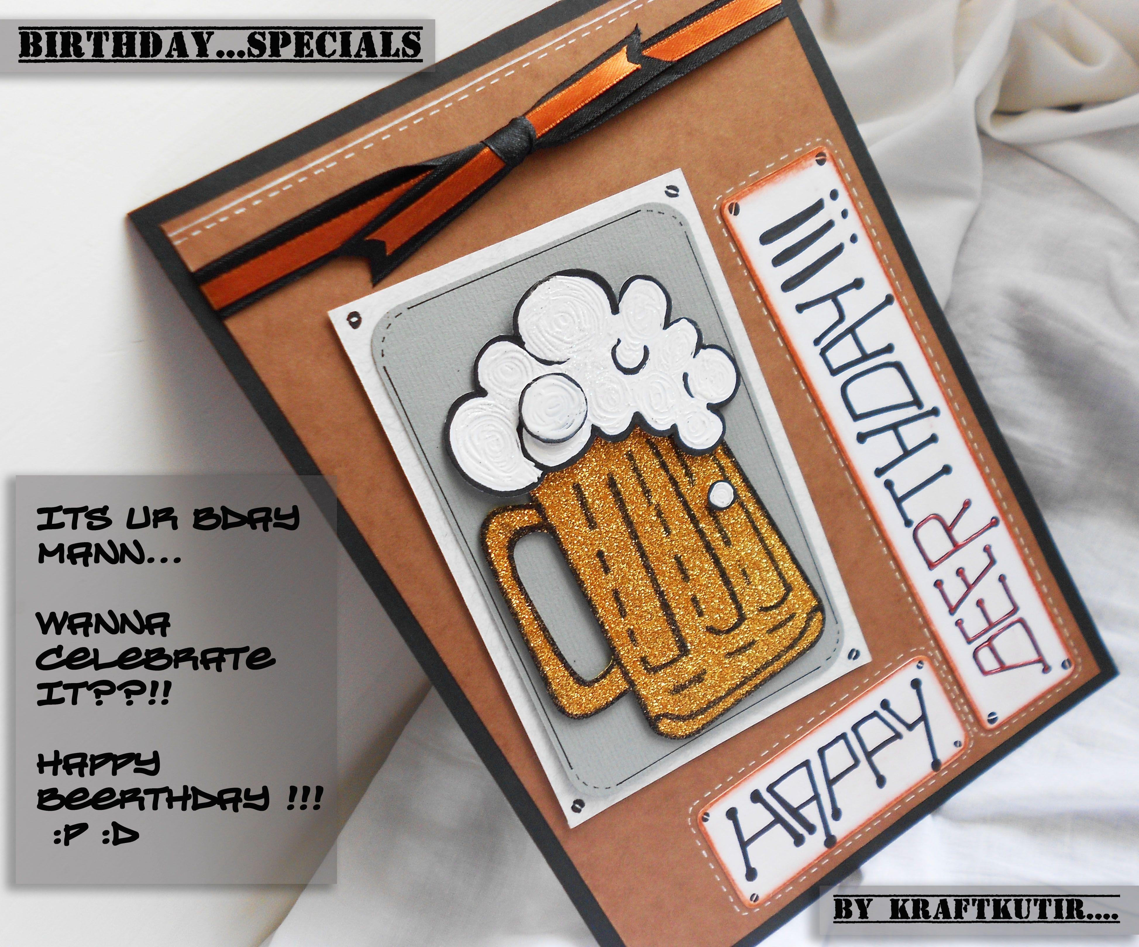 Indian handmade card by krafatkutir beer birthday cards