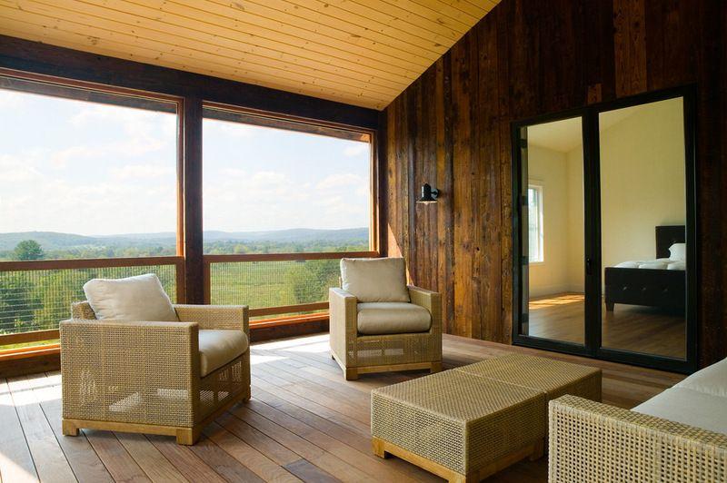 farmhouse sleeping porch by Demetriades + Walker | Porch ... on Farmhouse Outdoor Living Space id=49784