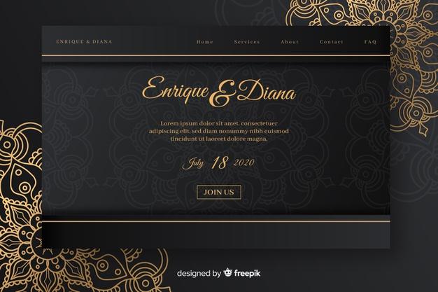 Download Elegant Wedding Landing Page for free Floral