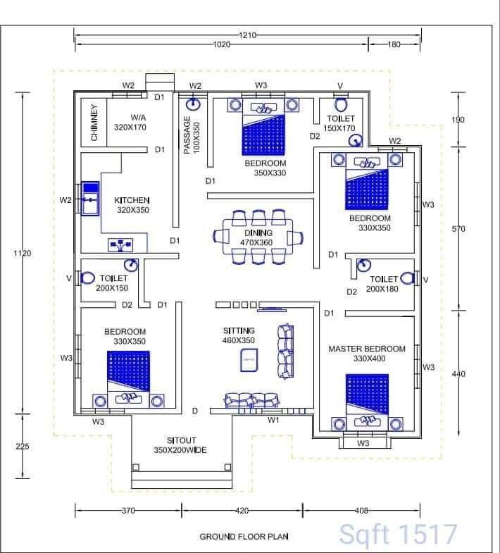 Floor Plan 01 Bedroom House Plans Indian House Plans 4 Bedroom House Designs
