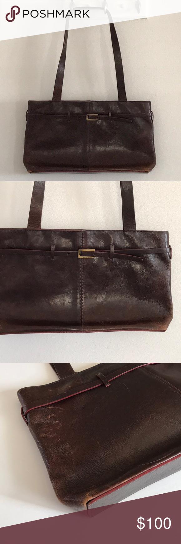 cc17937125 Francesco Biasia Leather Satchel bag   purse Vintage Biasia handbag. Supple  rich aged burgundy leather