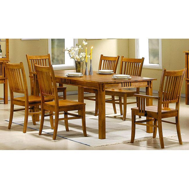 Angelica 7 Piece Mission Country Style Dining Set Dining Room