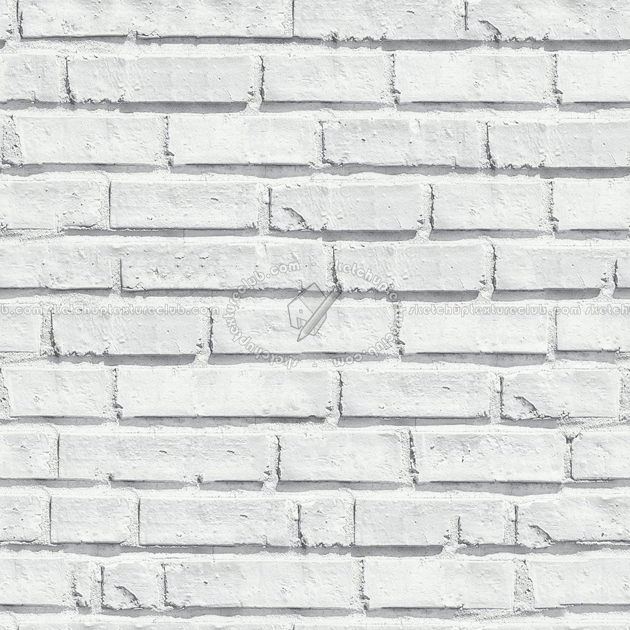 White Bricks Texture Seamless 00491