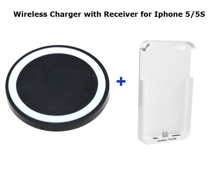 QI Wireless Chargers Transmitter Pad Mat for XIAOMI 2S/Samsung S3 + Qi Wireless charger Receiver for iPhone5 5s Free Shipping $26.00