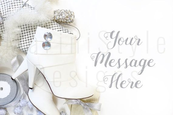 White Desk Christmas Styled Stock by MariniStyleDesigns on Etsy