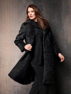 70169210 - Soft Textured Wool Coat