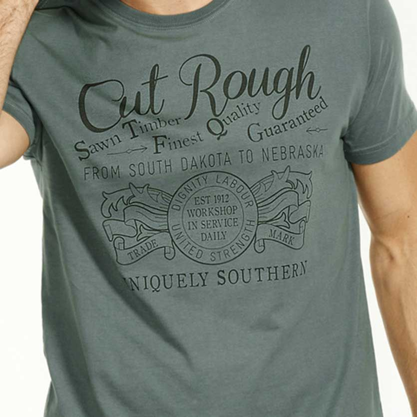 Short Sleeve Cut Rough Tee