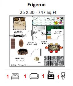 Gf 25 X 30 747 Sq Ft Floor Plan In 2018 Pinterest House