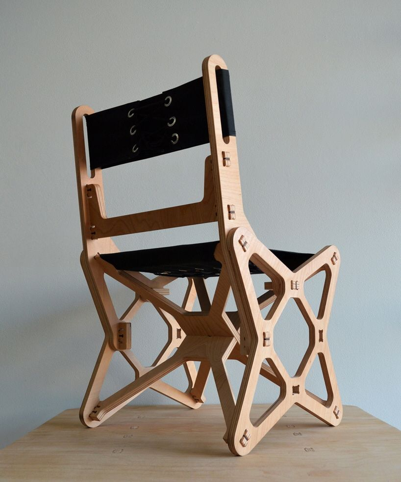 Diy plywood chair - Electron Chair A Waste Free Flat Pack Furniture Solution Core77 Plywood Furniturediy