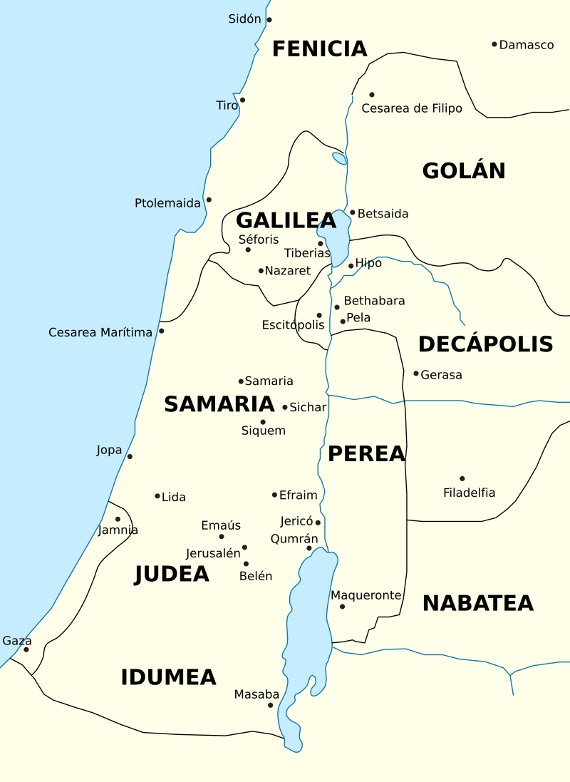 La Región En Tiempos De Los Romanos Siglo I E C Mapa De La Tierra Biblia Material Docente