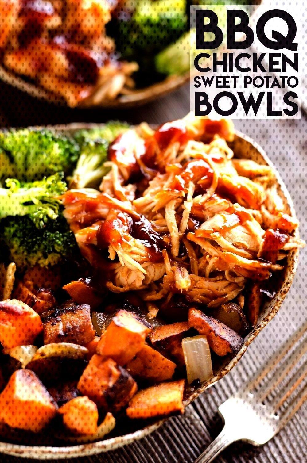 Chicken & Roasted Sweet Potato Bowls  BBQ Chicken & Roasted Sweet Potato Bowls are a hearty andBBQ