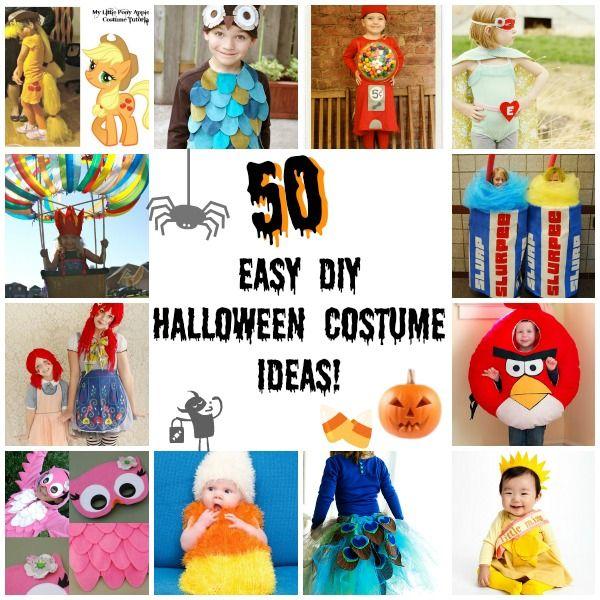 50 DIY Easy Halloween Costumes for Kids (AliLily) | Easy halloween ...